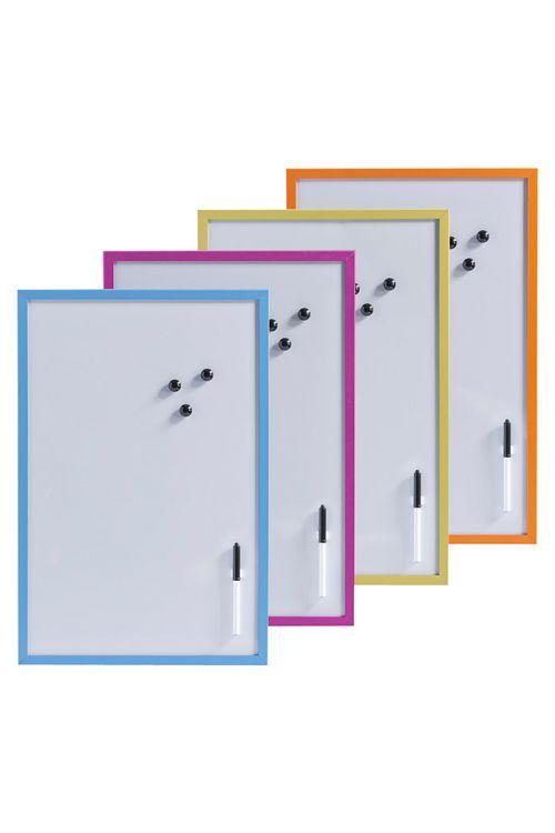 Magnetna tabla Zeller Present (60 cm x 40 cm x 14 mm, kovina, v različnih barvah, vklj. s pisalom, držalom za pisalo, 3 magneti, ušesi za obešanje)