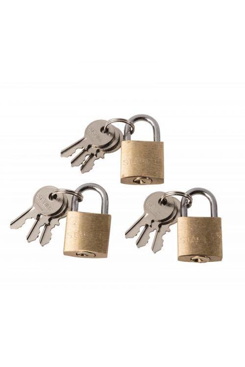 Ključavnica obešanka Stabilit (širina: 40 mm, material zaponke: jeklo, 3 kosi)