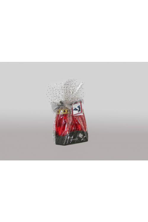 Žalni aranžma rdečih sveč CVET (3 sveče)