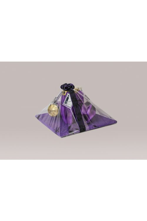 Žalni aranžma vijoličnih sveč CVET (5 sveč)