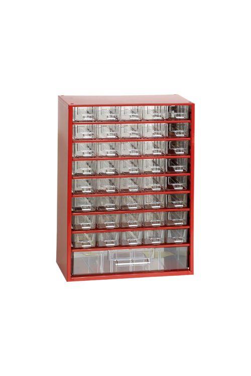 Sortirni predalnik za delavnico (41 predalnikov, rdeč)