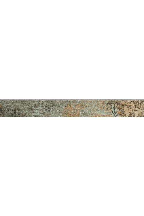 Robna ploščica Bagdad (7,3 x 59,2 cm, zelena, glazirana)