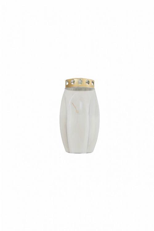 Parafinska sveča CVET (bela, srednja)