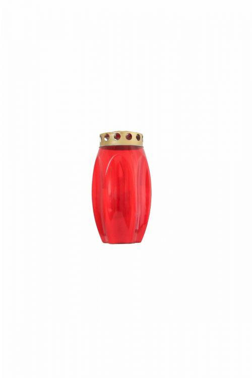 Parafinska sveča CVET (rdeča, srednja)