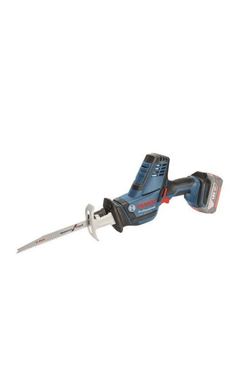 Akumulatorska sabljasta žaga BOSCH Professional GSA 18 V-LI C Solo (18 V, 5, brez baterije, dolžina hoda: 21 mm, 0–3.050 hodov/min)