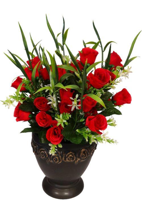 Šopek umetnih vrtnic (brez okrasne vaze)