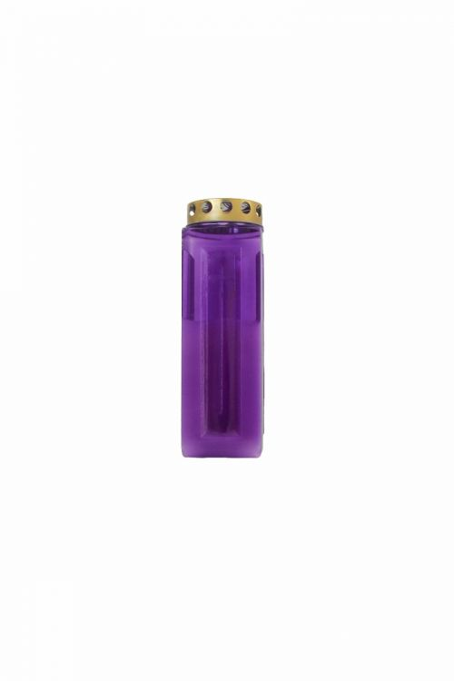 Parafinska sveča MAXI (vijolična, kocka)