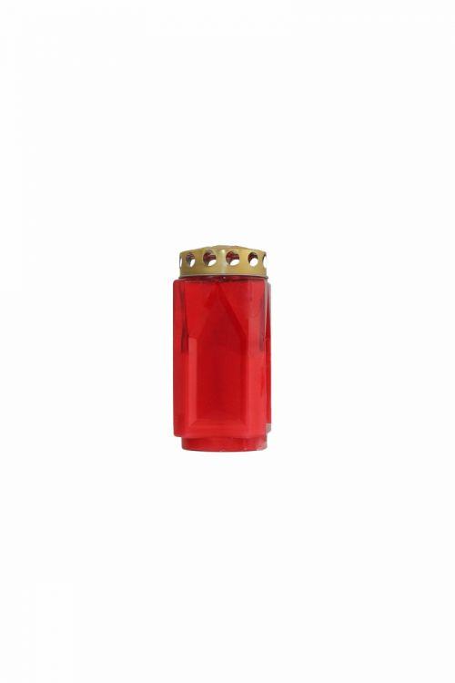 Parafinska sveča VELIKA (rdeča, kocka)