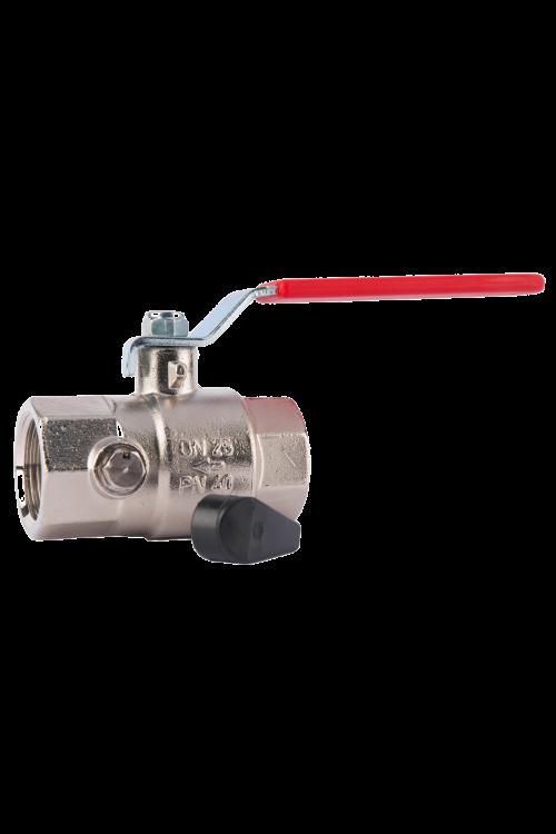 Krogelni ventil z izpustom Herz (DN 15, 1/2˝)
