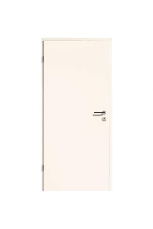 Notranja sobna vrata GetaDoor Laminit GL223 (850 x 2000 mm, bela, leva, s cilindrom in ključavnico, brez kljuke in podboja)