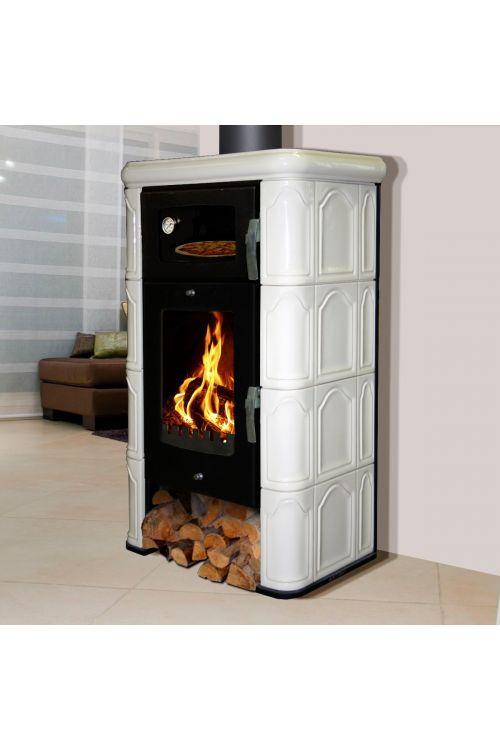 Kaminska peč Domofire Napoli (6,5 kW, velikost ogrevalnega prostora: 120 m3, bela)