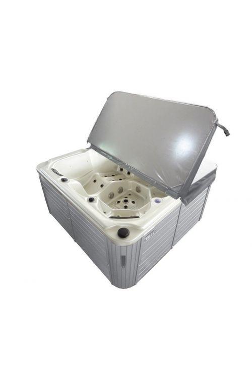 Zunanji masažni bazen Sanotechnik Oasis Maxi (bel, 210 x 210 x 92 cm, 1430 L, za 6 oseb)