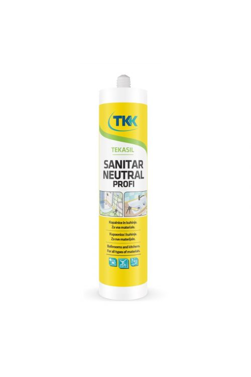 Sanitarna silikonska tesnilna masa Tekasil TKK neutral profi (kartuša 300 ml)
