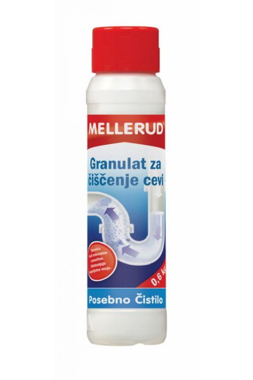 Granulat za čiščenje cevi Mellerud (600 g, plastenka)