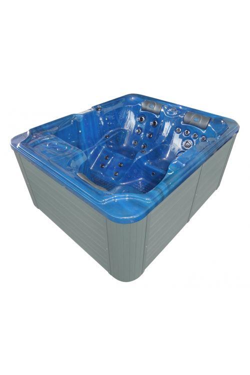Zunanji masažni bazen Sanotechnik Oasis (moder, 208 x 175 x 90 cm, 980 L, za 3 osebe)