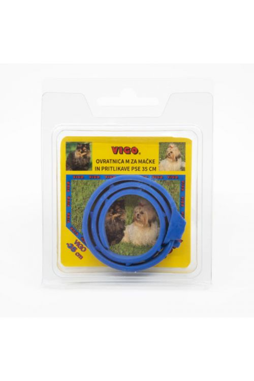 Ovratnica za mačke Vigo (35 cm, modra)